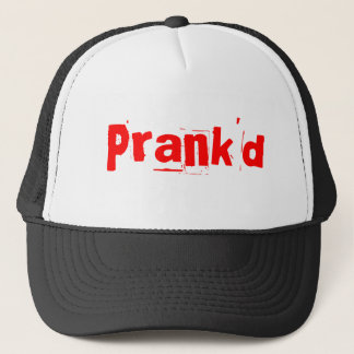 Prank'd Shirt (Black) (White) Trucker Hat