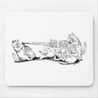 Prankster Cat with Soda Syphon Mouse Pad