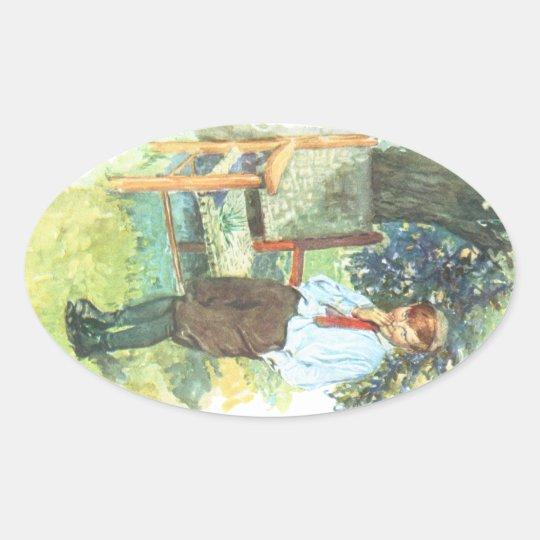 Prankster Oval Sticker