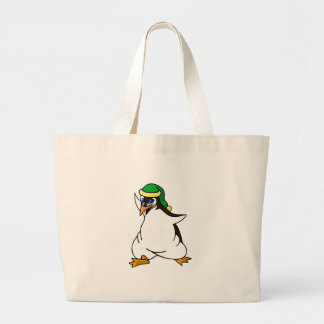 Prankster Penguin Large Tote Bag