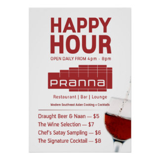 Pranna Happy Hour Poster Lighter Red