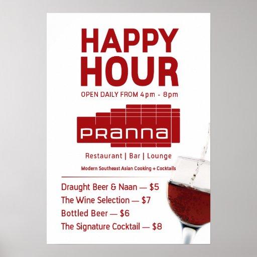Pranna Happy Hour Poster Lighter Red Jul-23