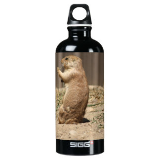Prarie Dog Eating Grass Aluminum Water Bottle