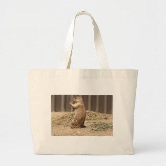Prarie Dog Eating Grass Bag