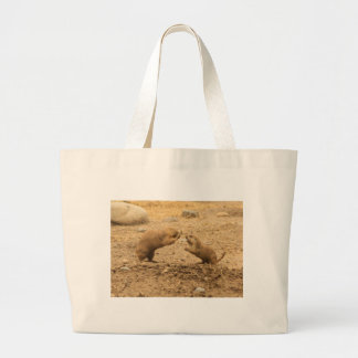 Prarie Dogs Give Me Some Skin Tote Bags