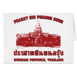 Prasat Hin Phanom Rung, Buriram, Isaan, Thailand Greeting Card