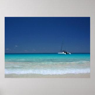 Praslin Island Catamaran Poster