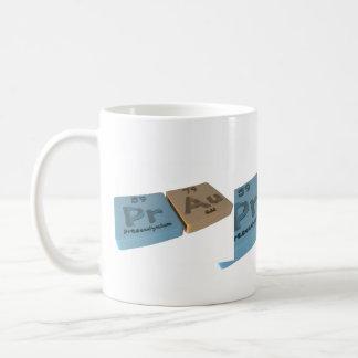 Prat as Pr Praseodymium and Au Gold Coffee Mug