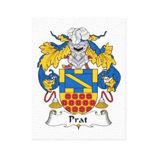 Prat Family Crest Canvas Print