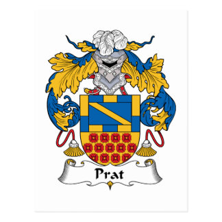 Prat Family Crest Postcard