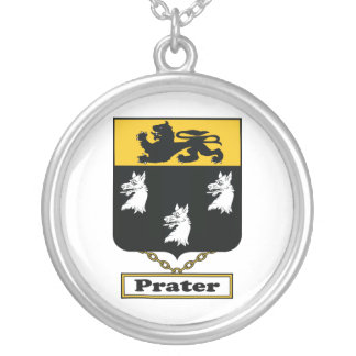 Prater Family Crest Round Pendant Necklace