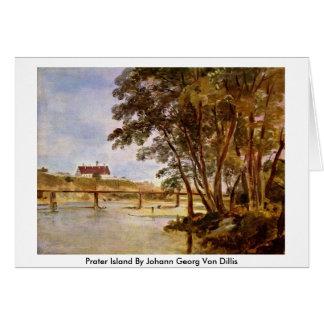 Prater Island By Johann Georg Von Dillis Card