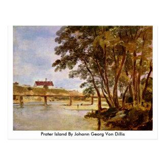 Prater Island By Johann Georg Von Dillis Post Card