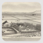 Pratt, granjas de Stewart Pegatina Cuadrada