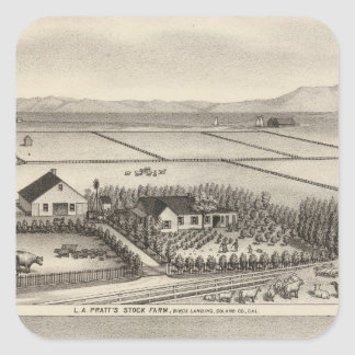 Pratt, Stewart farms Square Sticker