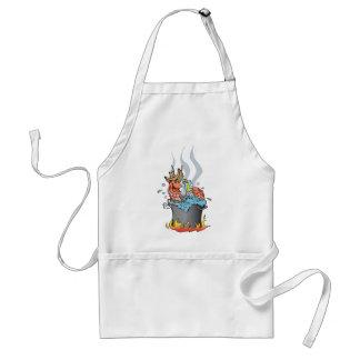 prawn boil adult apron
