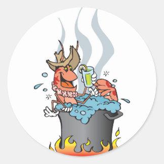 prawn boil classic round sticker