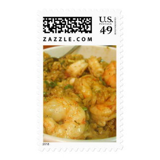 Prawn Fried Rice Shrimp Bowls Postage Stamp