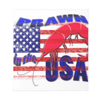 prawn in the usa notepad