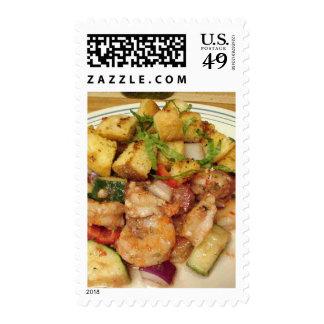 Prawn Salad With Garlic Croutons Stamp