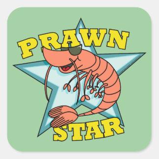 Prawn Star Square Sticker