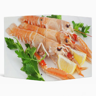 prawns with lemon and parsley 3 ring binder