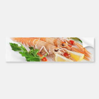 prawns with lemon and parsley bumper sticker