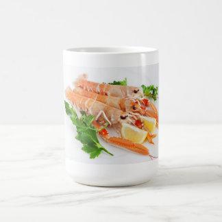 prawns with lemon and parsley coffee mug
