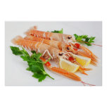 prawns with lemon and parsley print