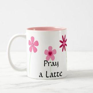Pray a Latte 1 Thess. 5:17 Two-Tone Coffee Mug