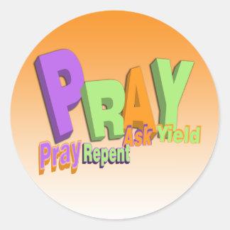 PRAY ACRONYM - PRAY REPENT ASK YIELD STICKERS