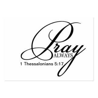 Pray Always Custom Business Card