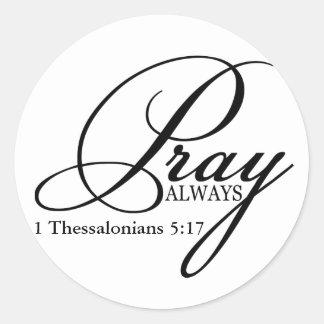 Pray Always Custom Sticker