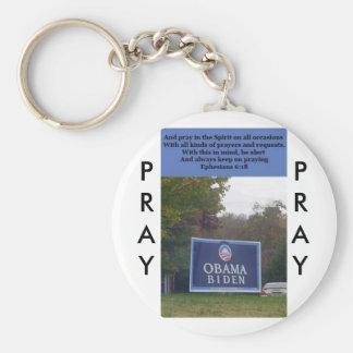 Pray Always for the President Basic Round Button Keychain