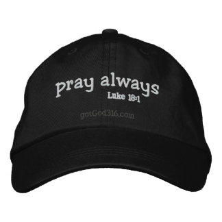 pray always gotGod316.com Wool Embroidered Baseball Hat