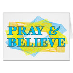 Pray and Believe Christian Gift Greeting Cards