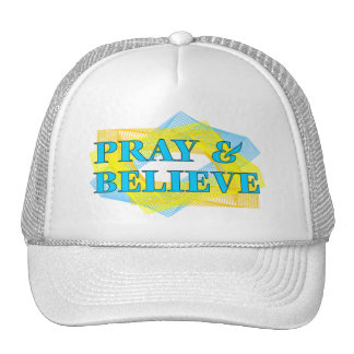 Pray and Believe Christian Gift Mesh Hats