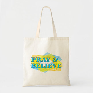 Pray and Believe Christian Gift Tote Bag
