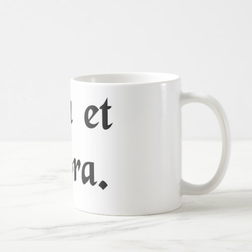 Pray and work. classic white coffee mug