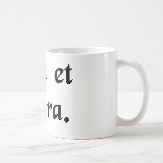 Pray and work. coffee mug