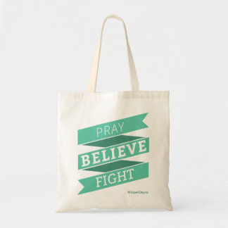 Pray. Believe. Fight. - Tote Bag Budget Tote Bag