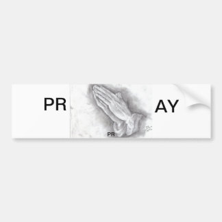 pray bumper sticker