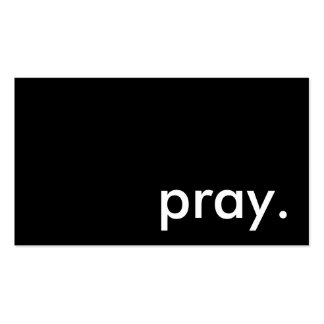 pray. business card templates