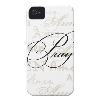 Pray Christian Quote by Enchanting Quotes iPhone 4 Case-Mate Case