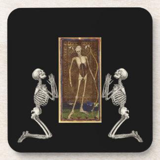 Pray Death Card Coaster