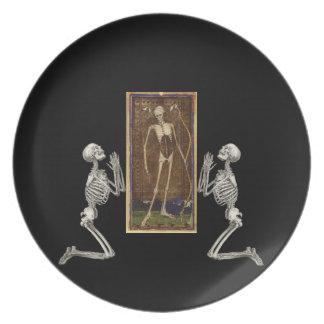 Pray Death Card Dinner Plates