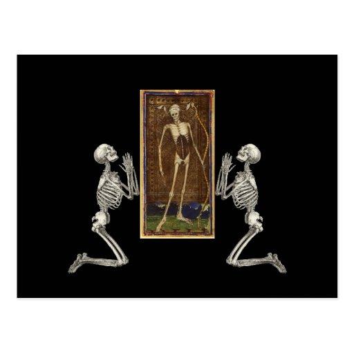 Pray Death Card Postcard