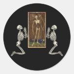 Pray Death Card Round Stickers