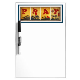 PRAY Dry Erase Board with Pen