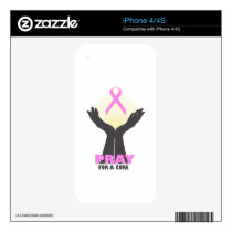 Pray For A Cure iPhone 4 Decal